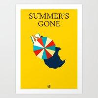 Suumer's gone Art Print