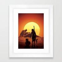 A Force Awakens Framed Art Print