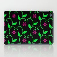 Pink Flowers And Green V… iPad Case