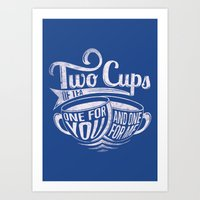Two cups of tea Art Print