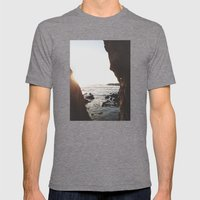 Shell Beach View Mens Fitted Tee Tri-Grey SMALL