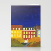 Kronissgade At Night Stationery Cards