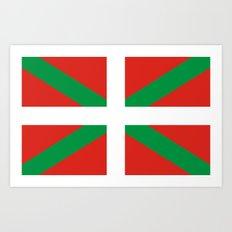 basque people ethnic flag spain Art Print