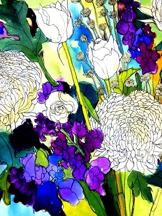forest flowers 1 Art Print
