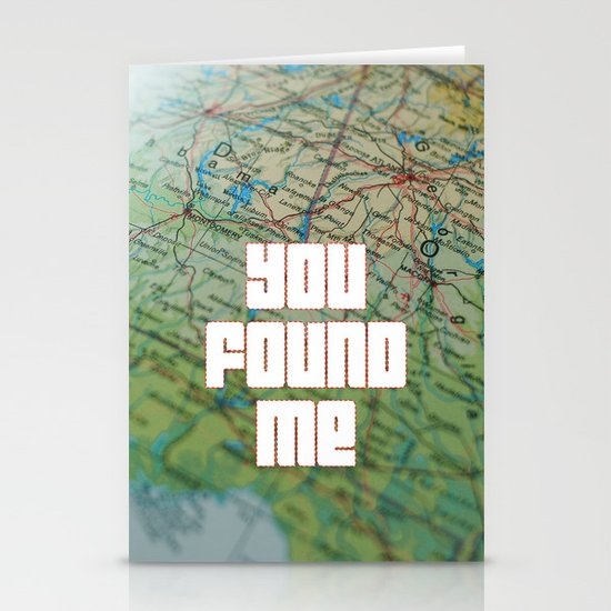 you found me Stationery Card