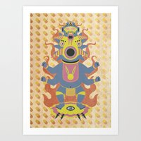 They Came From The Brain Art Print