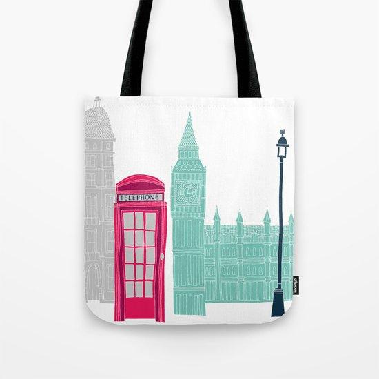 London Red Telephone Box (pink) Tote Bag