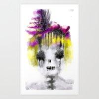 Creepy Lady Art Print
