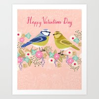 Love Birds Valentines Da… Art Print