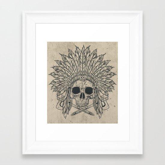 The Dead Chief Framed Art Print
