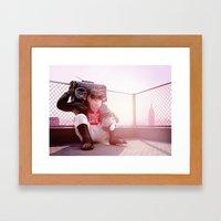 Monkey Beat Framed Art Print