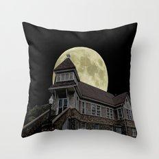 Super Moon Rising Throw Pillow