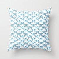 matsukata in dusk blue Throw Pillow