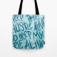HUSTLE FOR LIFE Tote Bag