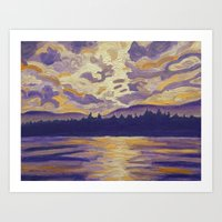 Okanagan Landscape In Pu… Art Print