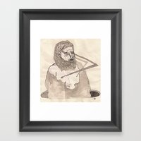 Rayos de pezón Framed Art Print