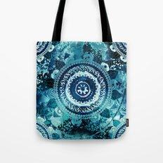 Teal Sea Mandala Tote Bag
