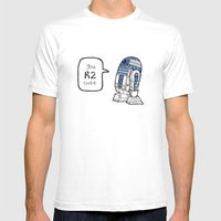 R2CUTIE Mens Fitted Tee White SMALL