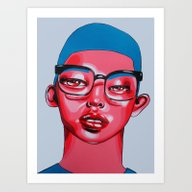 Art Print featuring AUSTIN by Zelda Bomba
