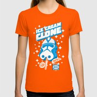 Ice Cream Clone Womens Fitted Tee Orange SMALL