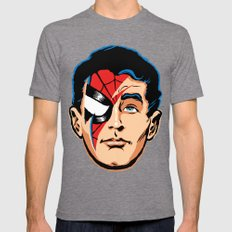 Spiders From Mars Mens Fitted Tee Tri-Grey SMALL