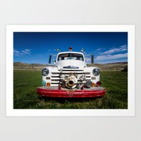 Old Fire Engine Art Print