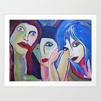 Three Faces For Everyone Art Print