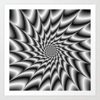 Silver Vortex Art Print
