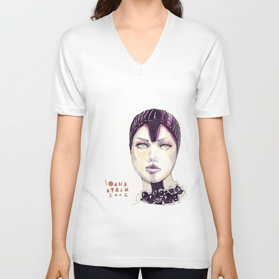 Fashion illustration  V-neck T-shirt