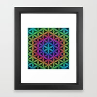 The Flower of Life (Sacred Geometry) 4 Framed Art Print