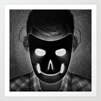 Drawlloween 2014: Mask Art Print