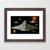 Galactic Battle Cruisers… Framed Art Print