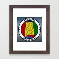 Alabama State Seal Clock  Framed Art Print
