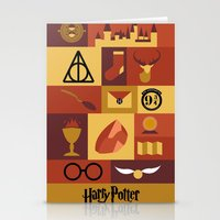 harry potter Stationery Cards featuring Potter by Polvo