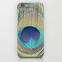 iPhone & iPod Case featuring Peacock Feather No.2 by Kimberly Blok
