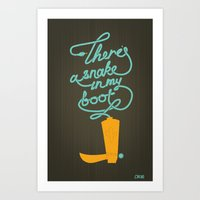 There's A Snake In My Boot! Art Print