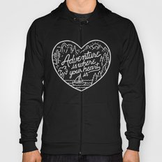 Adventure is where your heart is BW Hoody