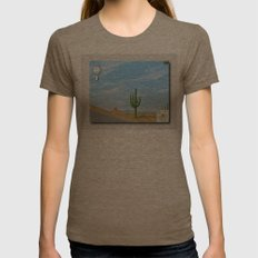 Google Street View Womens Fitted Tee Tri-Coffee SMALL