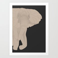All lines lead to the...Inverted Elephant Art Print