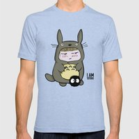 I am Totoro Mens Fitted Tee Tri-Blue SMALL