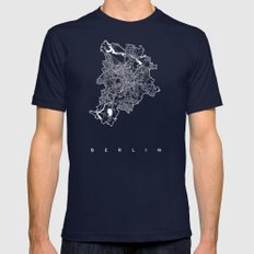 BERLIN Mens Fitted Tee Navy SMALL