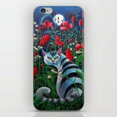 Cat In The Night iPhone & iPod Skin