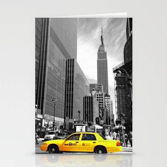 The yellow cab Stationery Card
