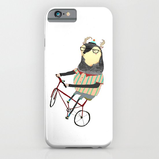 Deer on Bike.  iPhone & iPod Case
