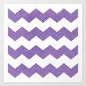 chevron - purple Art Print
