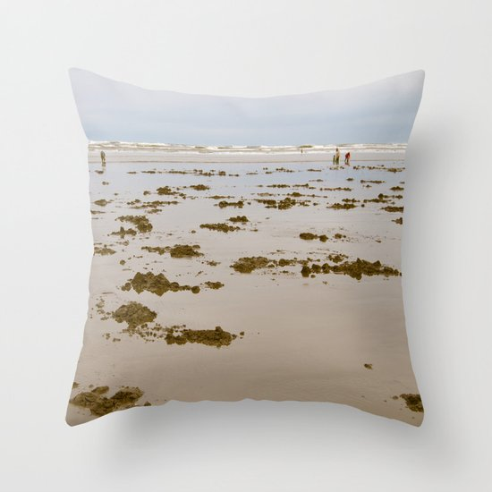 In Search of Razor Clams Throw Pillow