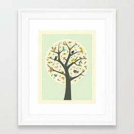 Framed Art Print - TREE OF LIFE - Jazzberry Blue