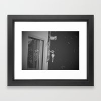 Don't Forget To Lock The… Framed Art Print
