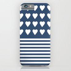 Heart Stripes Navy iPhone 6s Slim Case