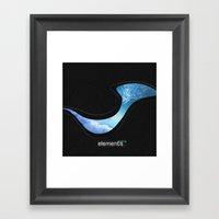 Elements   Water Framed Art Print